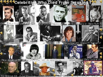 Smoking Taking Lives of Celebrities including The Marleboro Man