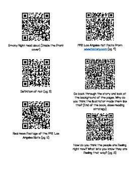 Smoky Night by Eve Bunting QR Codes