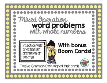Smooth Operator: Choosing an Operation for Whole Number Word Problems