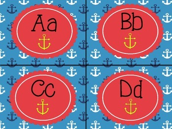 Smooth Sailing - Nautical Word Wall Letters