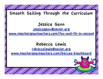 Smooth Sailing Through the Curriculum Powerpoint