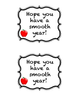 Smooth Year Gift Labels