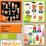 Smoothie & Juice clip art bundle / blender, drinks clipart