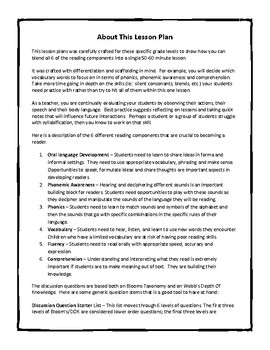 Smoothie Lesson Plan - The Magic Treehouse Series
