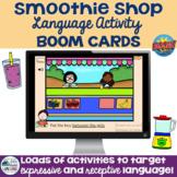 Smoothie Shop Language Activity Boom Cards™