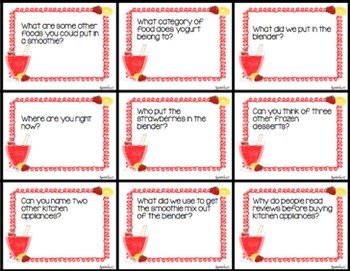 AAC, Core Vocabulary, WH Questions, Sequencing: Smoothies