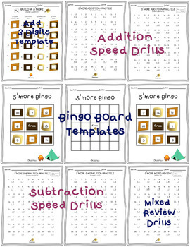 S'more Addition and Subtraction Practice: Games & Worksheets