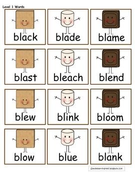 S'more Initial Word Blends: Differentiated Games, Sorts, and Writing Craftivity!