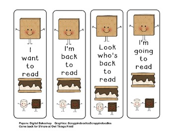 S'more Bookmarks