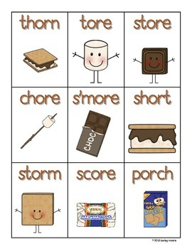 S'more Bossy R Phonics and Word Recognition Roll, Say, Keep
