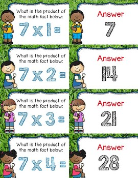 S'more Multiplication ~ Facts 7-12 ~ Quiz-Quiz-Trade Cards