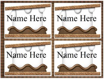 S'more Names Tags