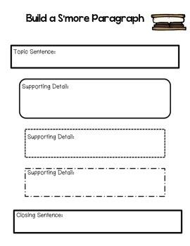 S'more Paragraph Graphic Organizer Set