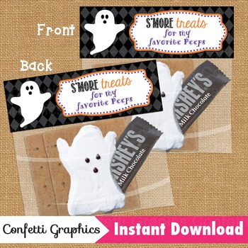 Treat Bag Toppers S'more Treats for my favorite Peeps Halloween Ghost Peeps