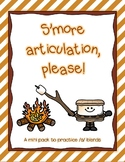 Smore articulation: Practicing /s/-blends