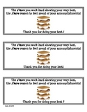 S'more celebration and thank you note