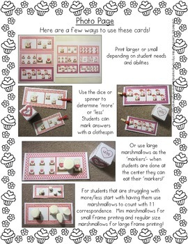 S'more or Less?  Valentine Clipping Math Center, Recording Sheets & Printables!
