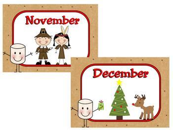 Smores Calendar Set