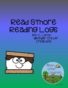 S'mores Camping Themed Reading Log