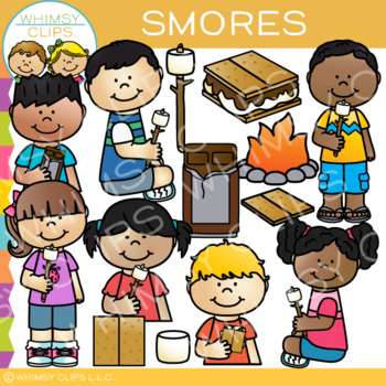 Smores Clip Art {Sequencing, Camping, and Snack Clip Art}