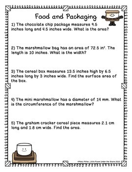 Math and Food Fun: S'Mores
