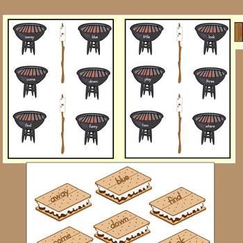 File Folder Games: Smores Galore Sight Words