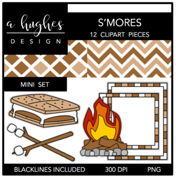 S'mores Mini Set {Graphics for Commercial Use}