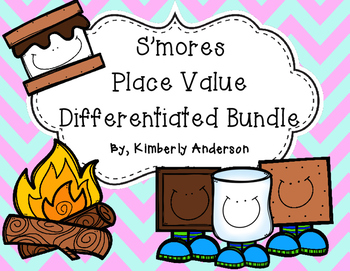 S'mores Place Value Differentiated Match Practice
