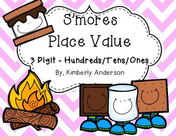 S'mores Place Value Match Practice - 3 digit: Hundreds / T