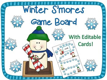 Snowman S'mores Game Board {Editable!}
