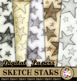 Smudged Pencil Star Papers