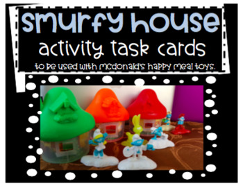 Smurf House Activity Task Cards (McDonald's Happy Meal Toys)