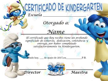 Smurfs Achievement Award Complete Editable!!!!! English &