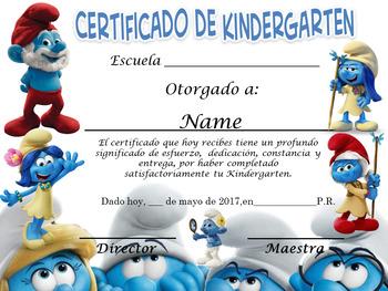 Smurfs Achievement Award Spanish & Englis version Complete Editable!!!!