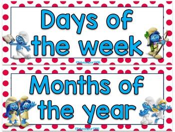 Smurfs Calendar Set (Red)