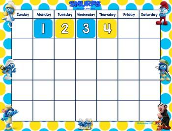 Smurfs Calendar Set (yellow/blue)