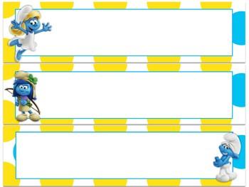 Smurfs Decor bundle (Yellow/Blue)