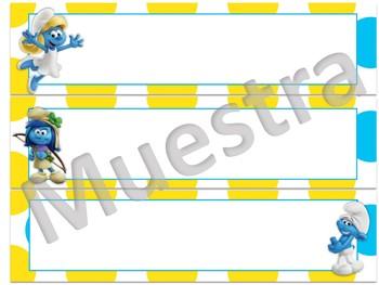 Smurfs Namplates (Los Pitufos)