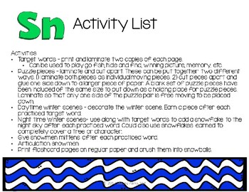 S-Blends - Sn Activity Pack