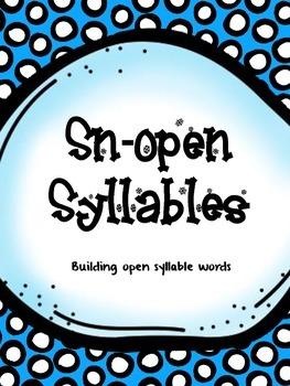 Sn-Open Syllables