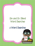 Sn and Sm Blend Word Searches!