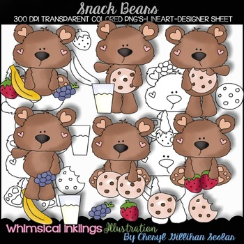 Snack Bears Clipart Collection