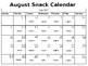 Snack Calendar 2017-2018