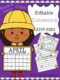 Snack/School Event Calendars 19-20 (Editable)