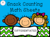 Snack Counting Math Sheets