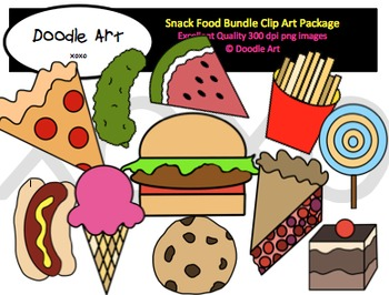 Snack Food Bundle Clipart Pack