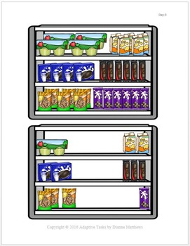 VOCATIONAL TASK Snack Inventory