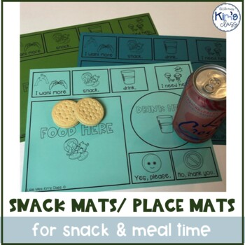 Snack Mat with Picture Symbols for kids with special needs or Autism
