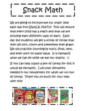 Snack Math Letter