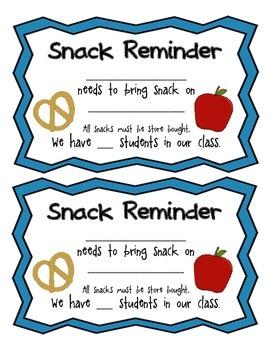 Snack Reminder